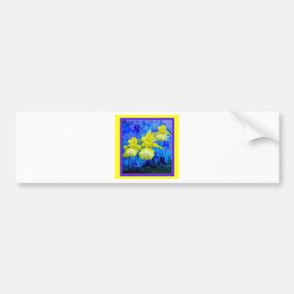 Jardin-Sharles bleu azuré d'iris jaune de couleur Autocollant De Voiture