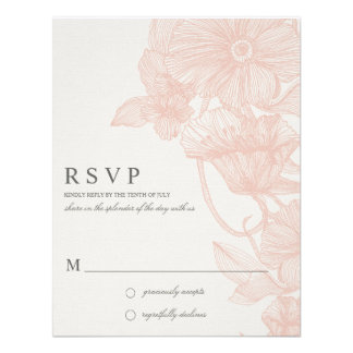 JARDIN VINTAGE PIPE R S V P INVITATION PERSONNALISABLE
