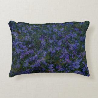 Jardin violet bleu coussin déco