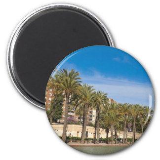 Jardines del Turia 2 Inch Round Magnet