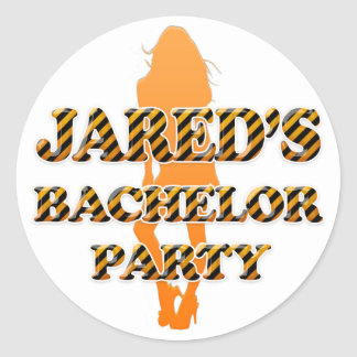 Jared's Bachelor Party Round Sticker