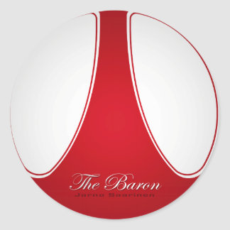 "Jarno ""The Baron"" Saarinen Classic Round Sticker"