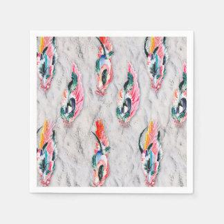 JarreBird™ Feather Cocktail Paper Napkins