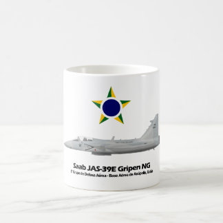 JAS-39E Gripen NG Profile Brazilian Air Force Coffee Mug