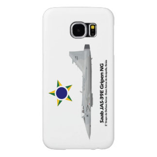 JAS-39E Gripen NG Profile Brazilian Air Force Samsung Galaxy S6 Cases