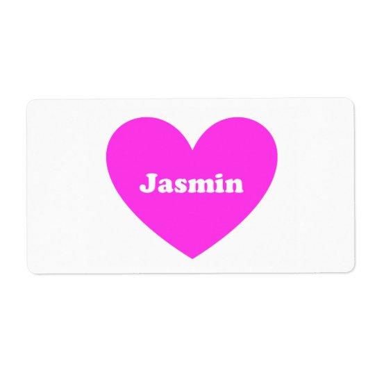 Jasmin Shipping Label