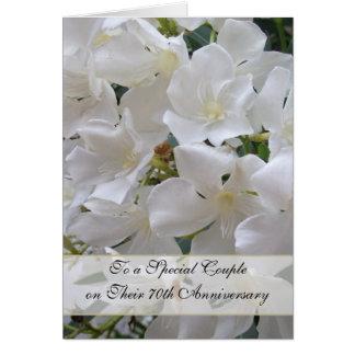 Jasmine 70th Wedding Anniversary Greeting Card