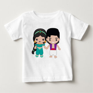 Jasmine and Aladdin Emoji 2 Baby T-Shirt