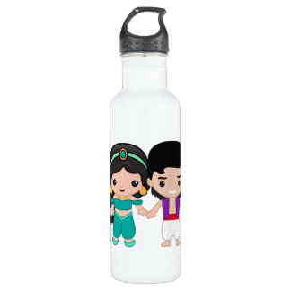 Jasmine and Aladdin Emoji 710 Ml Water Bottle