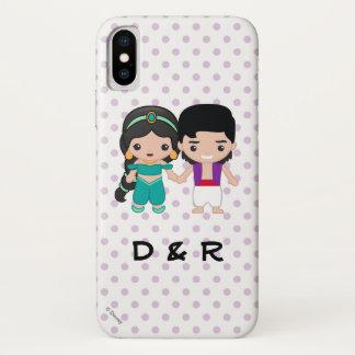 Jasmine and Aladdin Emoji iPhone X Case