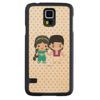 Jasmine and Aladdin Emoji Maple Galaxy S5 Slim Case