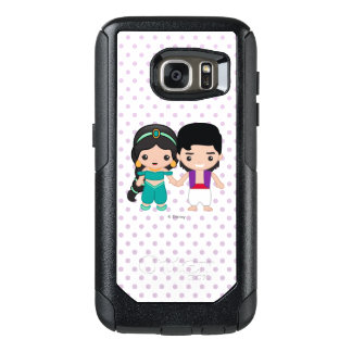 Jasmine and Aladdin Emoji OtterBox Samsung Galaxy S7 Case