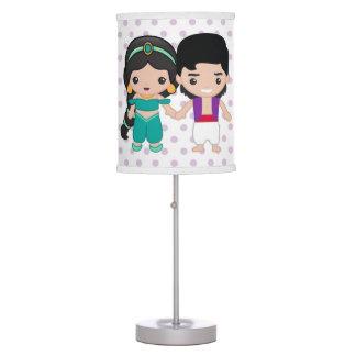 Jasmine and Aladdin Emoji Table Lamp