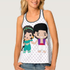 Jasmine and Aladdin Emoji Tank Top