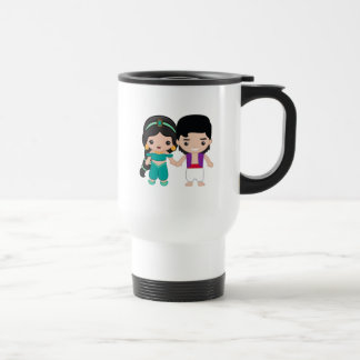 Jasmine and Aladdin Emoji Travel Mug