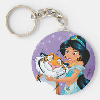 Jasmine | Besties Rule Basic Round Button Keychain