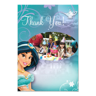"Jasmine Birthday Thank You Cards 3.5"" X 5"" Invitation Card"