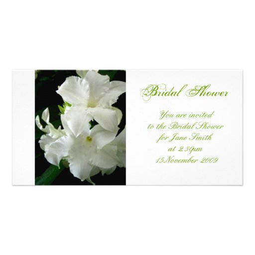 Jasmine - Bridal Shower Invitation Photo Card Template