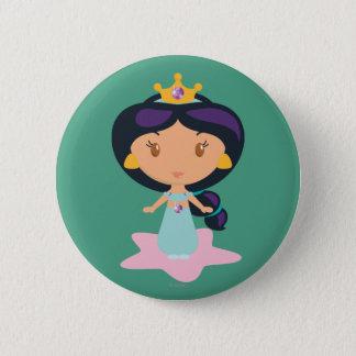Jasmine Cartoon 2 Inch Round Button