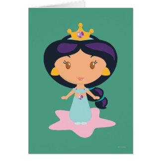 Jasmine Cartoon Greeting Card