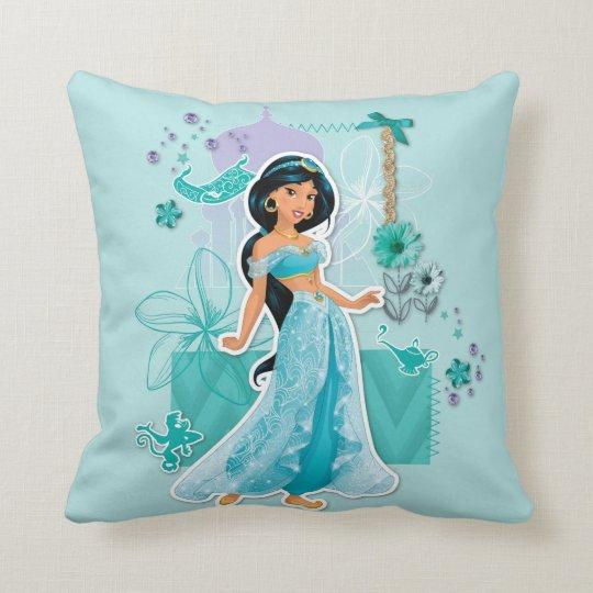 Jasmine - Courageous Throw Pillow