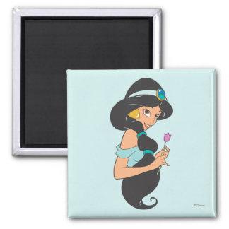 Jasmine Holding Flower Magnet