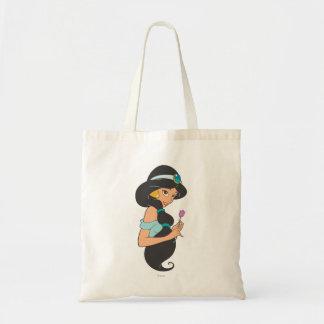 Jasmine Holding Flower Tote Bag