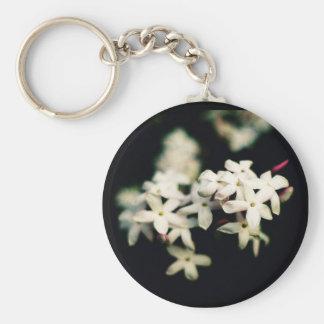 Jasmine Keyring Basic Round Button Keychain