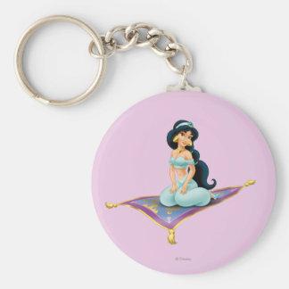Jasmine on Magic Carpet Basic Round Button Keychain