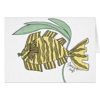 Jasmine Tiger Fish Greeting Card