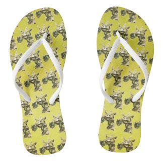 Jasmine Unicorn Flip Flops