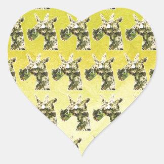 Jasmine Unicorn Heart Sticker