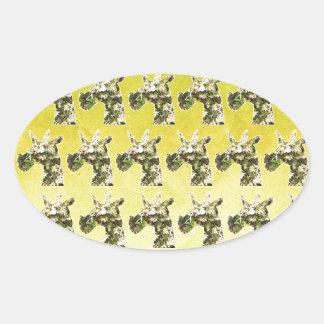 Jasmine Unicorn Oval Sticker