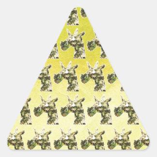 Jasmine Unicorn Triangle Sticker