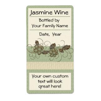 Jasmine Vine Wine Labels Bordeaux, Ice Wine