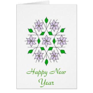 Jasmines, Happy New Year Greeting Card