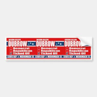 Jason Allen Dubrow for State Rep Bumper Sticker