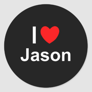 Jason Classic Round Sticker