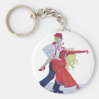 Jason Donovan Kristina Rihanoff Foxtrot Cartoon Basic Round Button Keychain