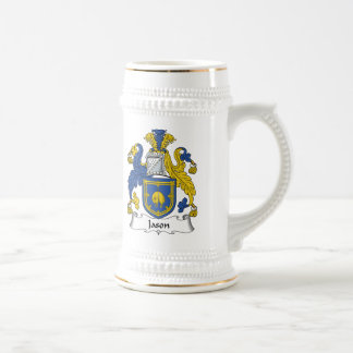 Jason Family Crest Beer Stein