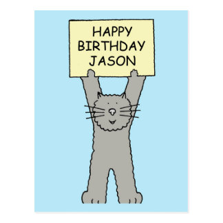 Jason Happy Birthday Postcard