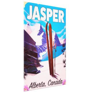 Jasper Alberta Canada travel poster Canvas Print
