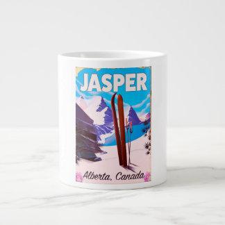Jasper Alberta Canada travel poster Large Coffee Mug