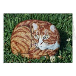 """""""Jasper"""" cat rock card"""