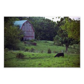 Jasper Co., Iowa Barn Scene Photograph