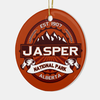 Jasper Crimson Ceramic Ornament