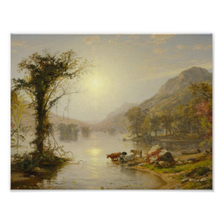 Jasper Francis Cropsey - Autumn on Greenwood Lake Poster
