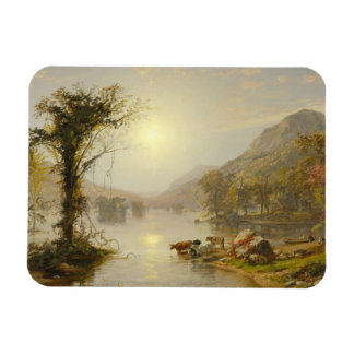 Jasper Francis Cropsey - Autumn on Greenwood Lake Rectangular Photo Magnet