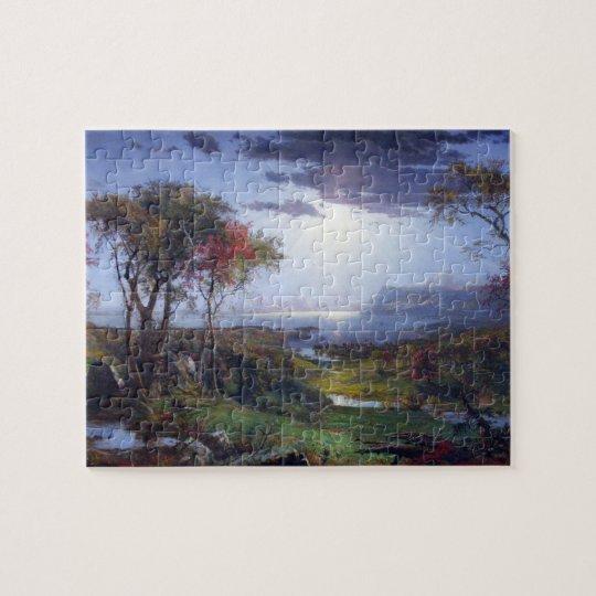 Jasper Francis Cropsey - Autumn - On the Hudson Ri Jigsaw Puzzle