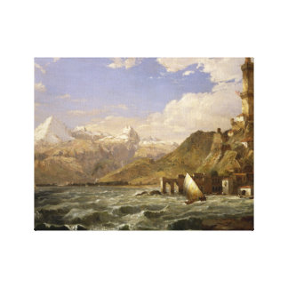 Jasper Francis Cropsey - The Coast of Genoa Canvas Print